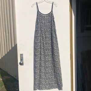Ann Taylor LOFT Black/White Spaghetti Strap Dress